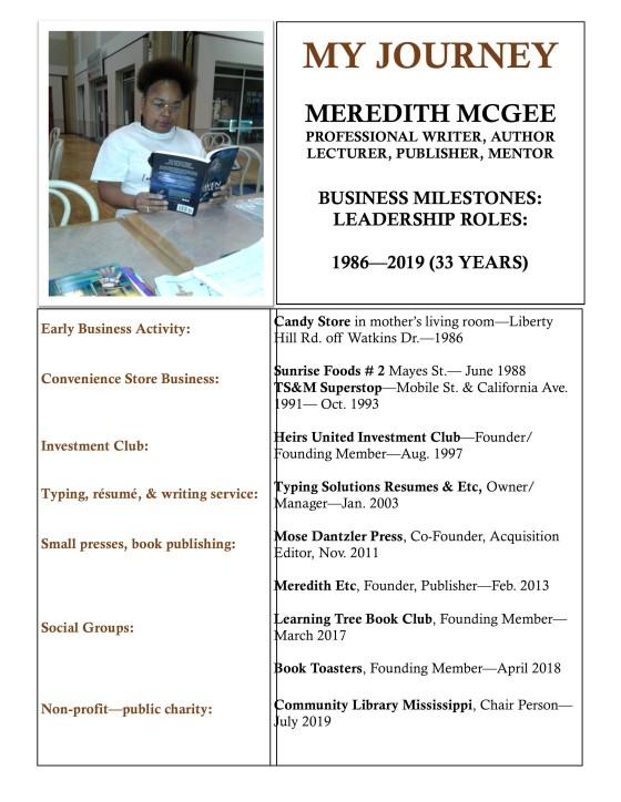 Meredith C. McGEE DECADE program
